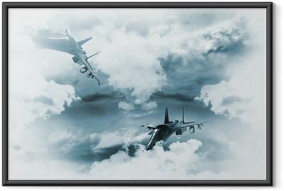 Gerahmtes Poster Jets Hintergrund