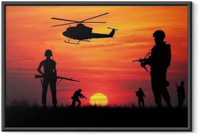 Gerahmtes Poster Soldaten im Krieg