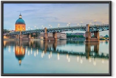 Toulouse - Hôpital de la Grave og Pont Saint-Pierre Indrammet plakat