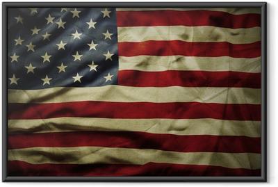 Poster i Ram Amerikanska flaggan
