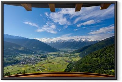 Plakat w ramie Widok z balkonu w Alpach