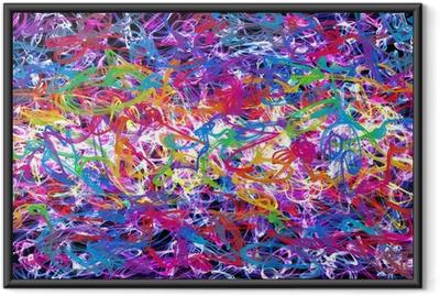 Póster Enmarcado Grafitti abstracto