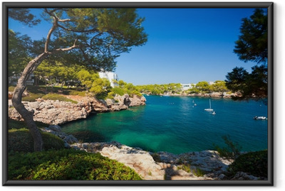 Ingelijste Poster Cala d'Or baai, eiland Mallorca, Spanje