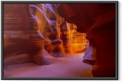 Gerahmtes Poster Antelope Canyon Arizona auf der Navajo-Land nahe Seite