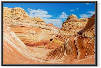 Poster en cadre The Wave, Arizona désert rocheux