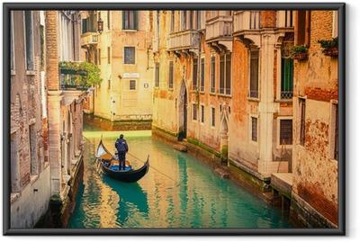 Gerahmtes Poster Canal in Venedig