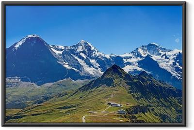 Poster en cadre Monts Eiger, Moench et Jungfrau