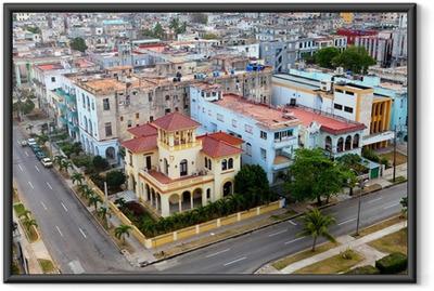 Gerahmtes Poster Kuba. Alt-Havanna. Ansicht von oben.