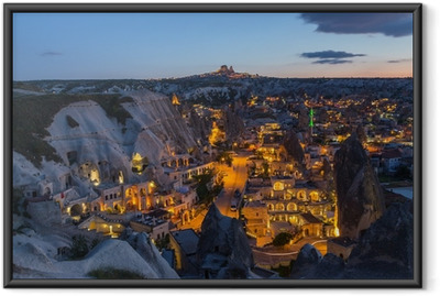 Gerahmtes Poster Die Landschaft von Kappadokien, Türkei