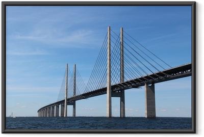 Öresund Brücke - Verbindung zwischen Dänemark und Schweden Indrammet plakat