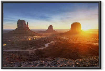 Ingelijste Poster Monument Valley bij zonsopgang