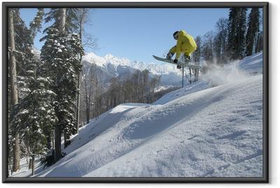 Snowboard freerider Framed Poster