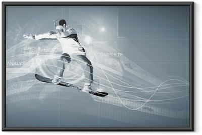 Ingelijste Poster Snowboarden