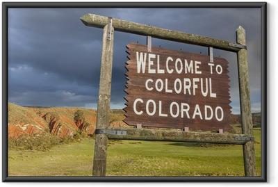 Ingelijste Poster Welkom bij Colorado teken
