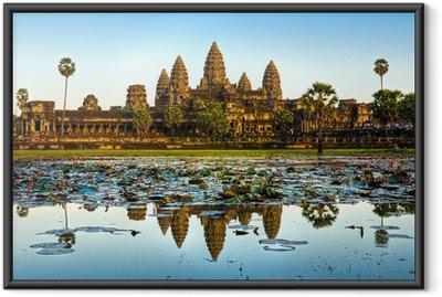 Angkor wat, siem reap, kambodža. Kehystetty juliste