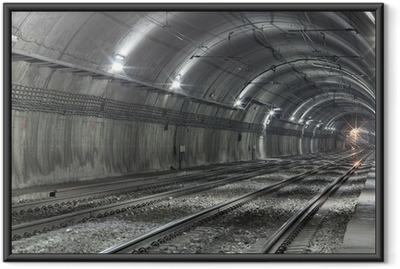 Poster en cadre Tunnel de métro vide