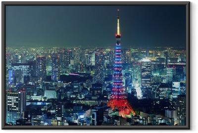 Poster en cadre Ville de tokyo