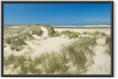 Gerahmtes Poster Sanddünen an der Küste