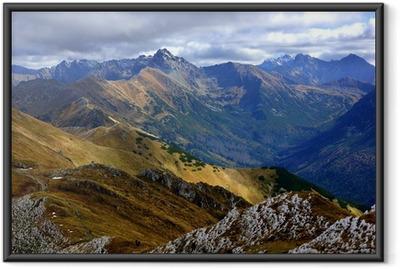Poster i Ram Röda Bergstoppar, Tatras Mountains i Polen