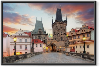 Prague View from Charles Bridge Framed Poster