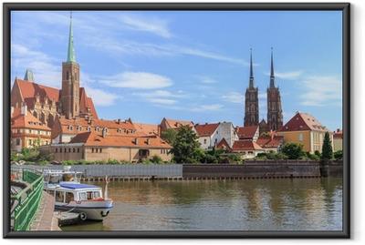 Wroclaw, Ostrow Tumski (katedral ø), Polen Indrammet plakat