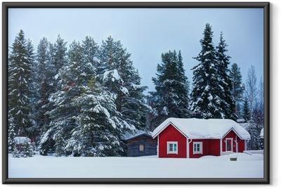 Ingelijste Poster Finse huis