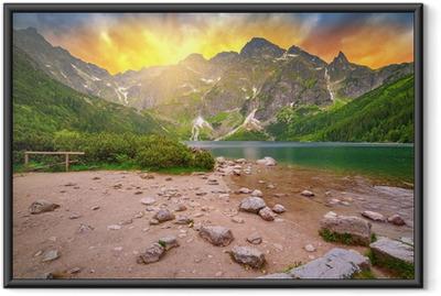 Plakat w ramie Tatry o zachodzie słońca