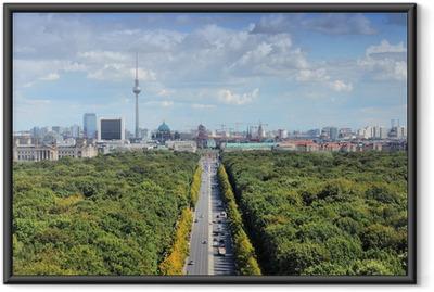 Ingelijste Poster Berlijn skyline met Tiergarten Park