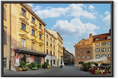 Çerçeveli Poster Varşova. Old Town Pazar Yeri.
