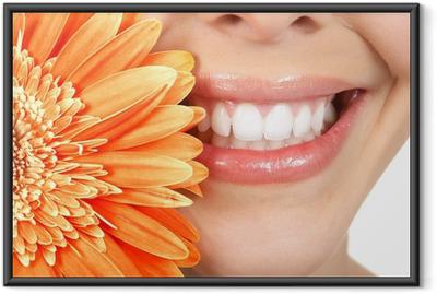 Poster en cadre Dents femme