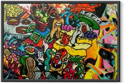 Ingelijste Poster Graffiti kunst urbain