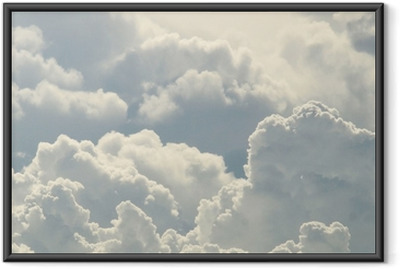 blue sky and beautiful clouds Framed Poster