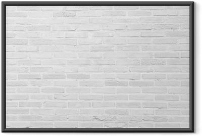 Poster en cadre Blanc grunge mur de briques texture de fond