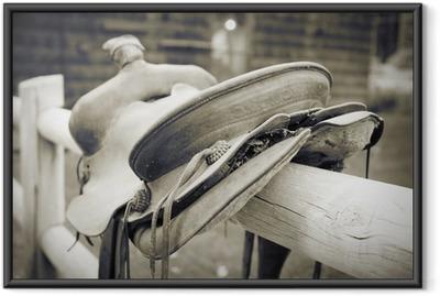Ingelijste Poster Saddle