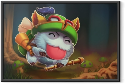 Ingelijste Poster Teemo - League of Legends