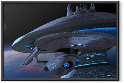 Çerçeveli Poster Star Trek Gemi