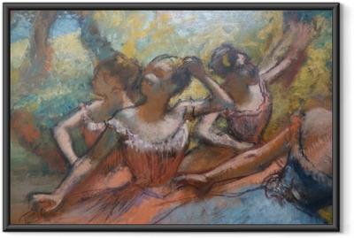 Plakat w ramie Edgar Degas - Cztery tancerki na scenie