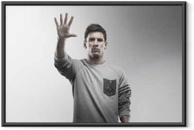 Lionel Messi Indrammet plakat