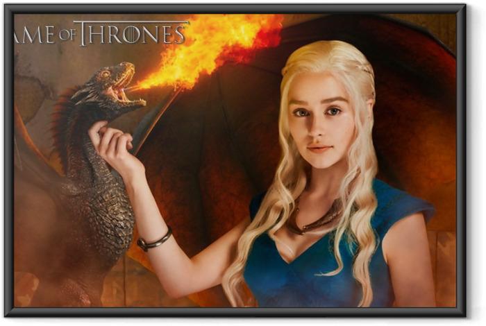 Póster Enmarcado Daenerys Targaryen - Temas