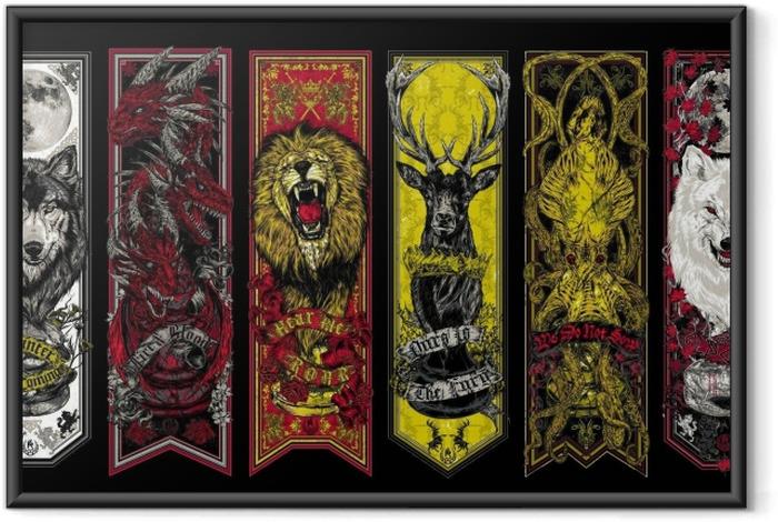 Spil af Thrones Indrammet plakat -