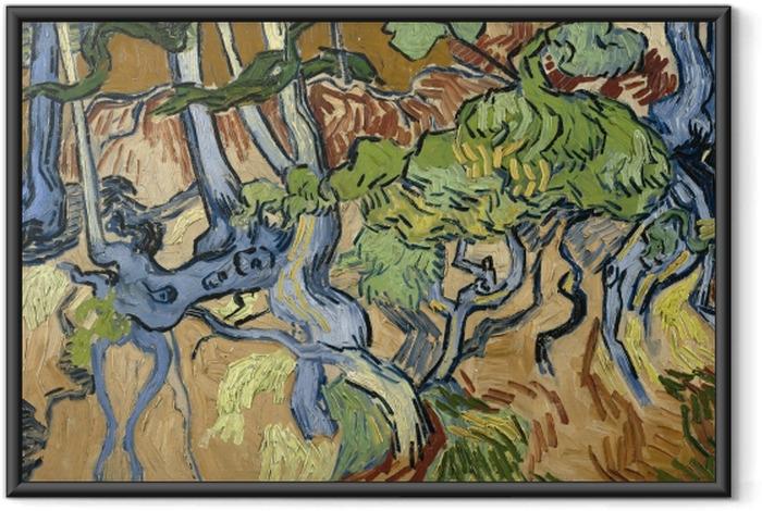 Poster en cadre Vincent van Gogh - Racines d'arbre - Reproductions