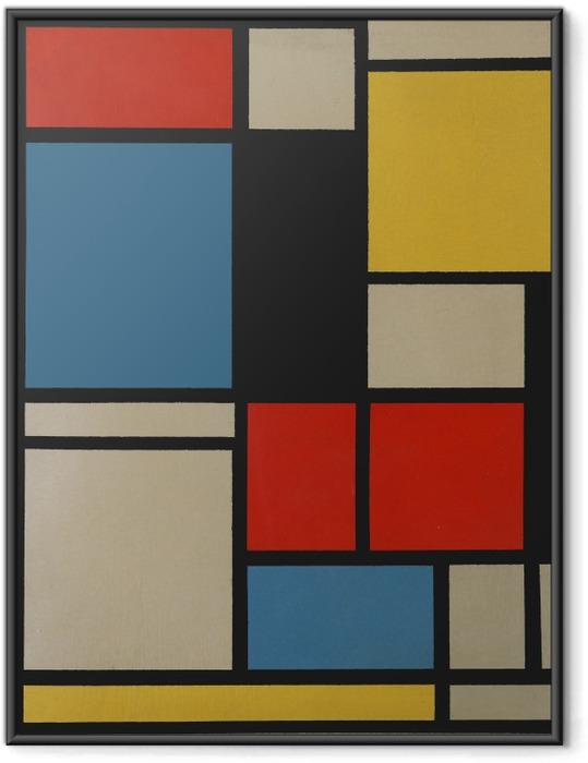 Plakat w ramie Piet Mondrian - Kompozycja C - Reprodukcje