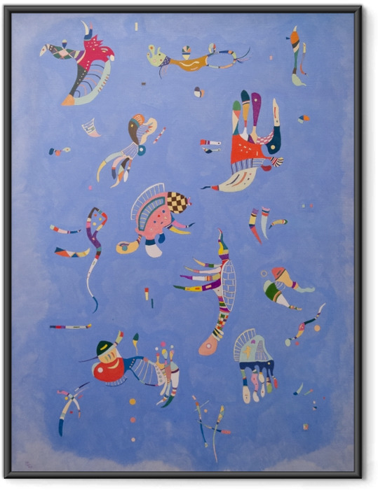 Innrammet plakat Vasilij Kandinskij - Himmelblå -