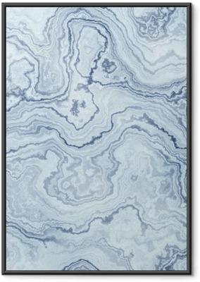 Poster in Cornice Struttura senza giunte di marmo modello blu per sfondo / illustrazione