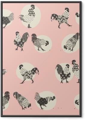 Poster en cadre Roosters