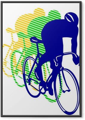 Gerahmtes Poster 3 Rennräder