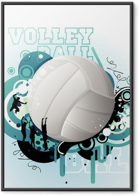 Volleyball vector Framed Poster