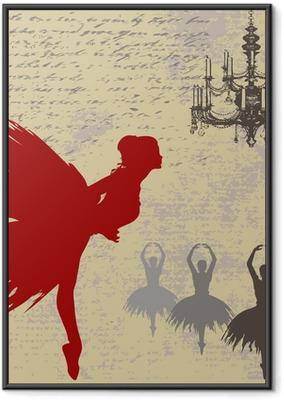 Gerahmtes Poster Ballerina Hintergrund