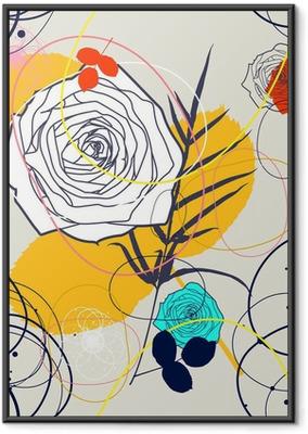 Poster en cadre Vecteur Retro Floral (Seamless Pattern) - Styles