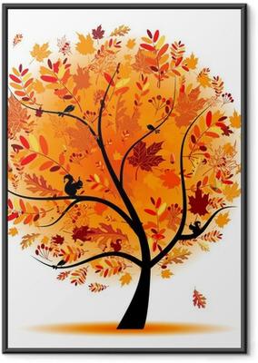Poster en cadre Arbre automne beau pour votre conception.